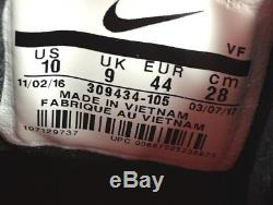 Nike Air Diamond Turf Sanders White/Black Men's Training Shoes 309434-105 Sz 10