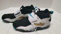 Nike Air Diamond Turf White/Blue Mens Athletic Shoes 309434-013 Size 15