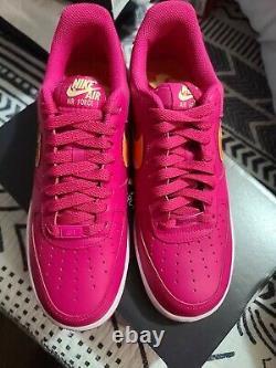Nike Air Force 1'07 LV8 Fireberry Turf Orange Men's Sz 7.5 Shoes DD9540-600