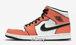 Nike Air Jordan 1 Mid SE Shoe Turf Orange Black White DD6834-802 Men's NEW