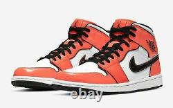 Nike Air Jordan 1 Mid SE Shoe Turf Orange Black White DD6834-802 Men's or GS NEW