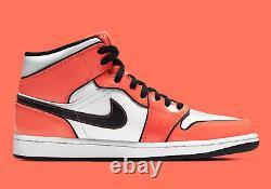 Nike Air Jordan 1 Mid SE Shoes Turf Orange Black White DD6834-802 Men's Size 12