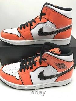 Nike Air Jordan 1 Mid SE Turf Orange Men's Basketball Shoes DD6834-802 sz 9.5