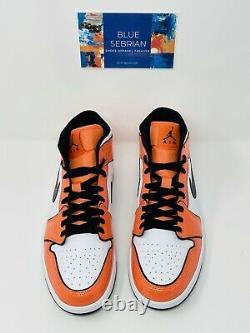 Nike Air Jordan 1 Mid SE Turf Orange Shoes Mens Size 10.5 DD6834-802 NEW