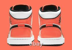 Nike Air Jordan 1 Mid SE Turf Orange White DD6834-802 Basketball Shoe Men's NEW