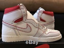 Nike Air Jordan 1 Retro High OG Men's sz 13 SAIL BLACK PHANTOM 555088 160 No Lid