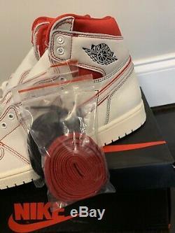 Nike Air Jordan 1 Retro High OG Mens Sz 12 Sail/Phantom/Black 555088-160 NIB