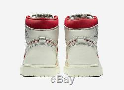 Nike Air Jordan 1 Retro High OG Shoe Sail Phantom Red Black 555088-160 Men's NEW