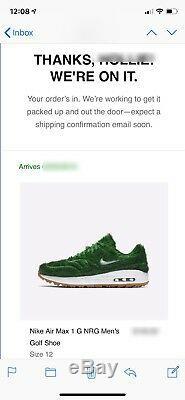 Nike Air Max 1 G Grass Turf NRG Men's Golf Shoe Size US 12