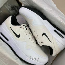 Nike Air Max 1 Golf Shoes Mens Uk8/us9/eu42 White Cream Aq0863-008 Turf