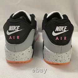 Nike Air Max 90 Pack Shoes DC9845 100 White Black Turf Orange Paint Sz 10.5