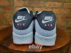 Nike Air Max 90 Running Shoes White Black Turf Orange DC9845-100 Men's NEW