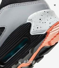 Nike Air Max 90 Running Shoes White Black Turf Orange DC9845-100 Men's New Sz 10