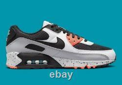 Nike Air Max 90 Shoes Turf Orange Aquamarine Black Speckle DC9845-100 Men's