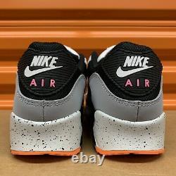 Nike Air Max 90 White/Black-Turf Orange Aquamarine Mens Shoes Sz 10 DC9845 100
