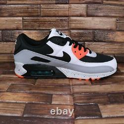 Nike Air Max 90 White/Black-Turf Orange Aquamarine Mens Shoes Sz 9.5 DC9845 100