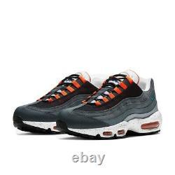 Nike Air Max 95 Black/Aquamarine/Turf Orange/White Men's Shoe Size 11