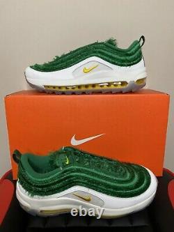 Nike Air Max 97 Golf NRG Grass CK4437-100 Mens Size 9 Nike Golf Shoes Turf