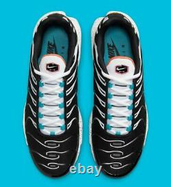 Nike Air Max Plus Black Turf Orange Aquamarine Shoes Mens Size 12 (CZ1651-001)