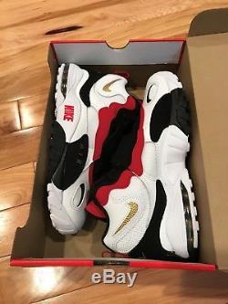 Nike Air Max Speed Turf 49ers White Black Red Diamond 525225-101 Men's Size 11