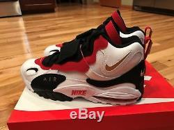 Nike Air Max Speed Turf 49ers White Black Red Diamond 525225-101 Men's Size 8