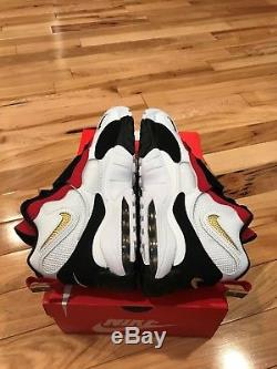 Nike Air Max Speed Turf 49ers White Black Red Diamond 525225-101 Men's Size 9