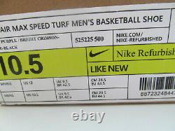 Nike Air Max Speed Turf Basketball 525225 500 man purple shoes sz 10.5 New