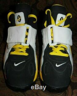 Nike Air Max Speed Turf DEION SANDERS SHOES BLK/WHT/YEL (525225) US MEN'S SZ 13