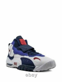 Nike Air Max Speed Turf Giants White Blue Red Shoes BV1165-100 Mens Sz 13 New