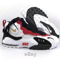 Nike Air Max Speed Turf Marino White Metallic Gold Black Red 525225-101 Men's 11
