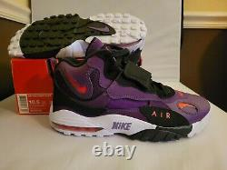 Nike Air Max Speed Turf Men Shoes Night Purple Crimson 525225-500 Size 10.5