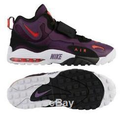 Nike Air Max Speed Turf Men Shoes, Night Purple/Crimson/White, 525225-500, Sz 9.5