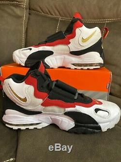 Nike Air Max Speed Turf Men's Shoes Size 12 Red White Black 525225-101 2012