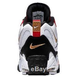 Nike Air Max Speed Turf Men's White/Black/Gym Red/Metallic Gold 5225101
