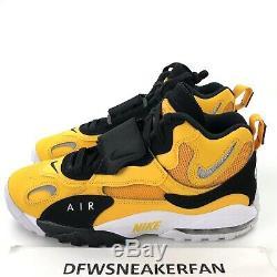 Nike Air Max Speed Turf Mens 11 Yellow Gold White Black Shoes BV1165-700 New