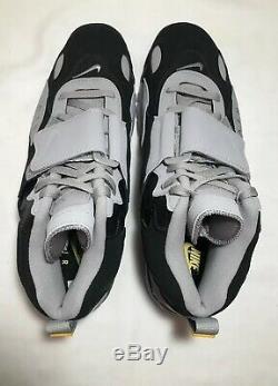 Nike Air Max Speed Turf Mens Sz 13'Black Grey' Yellow AV7895-001