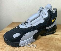 Nike Air Max Speed Turf Mens Training Shoes Black Grey Yellow SZ New AV7895-001