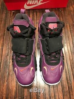 Nike Air Max Speed Turf Night Purple/Bright Crimson Siz US 12 Men 525225 500 New
