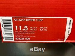 Nike Air Max Speed Turf Night Purple/Bright Crimson US 11.5 Men 525225 500 New