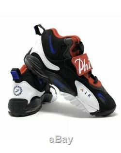 Nike Air Max Speed Turf Philadelphia 76ers Black Red BV1230-001 Men's Size 14
