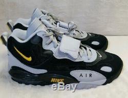 Nike Air Max Speed Turf Shoes Black Grey Yellow AV7895-001 Men's Sz 15