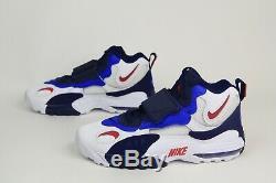 Nike Air Max Speed Turf Shoes Deion Sanders White Blue Red BV1165-100 Men SZ 11