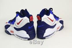 Nike Air Max Speed Turf Shoes Deion Sanders White Blue Red BV1165-100 Men SZ 12