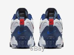 Nike Air Max Speed Turf Shoes Deion Sanders White Blue Red BV1165-100 Men SZ 9.5