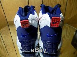 Nike Air Max Speed Turf Trainers Shoes Size 9.5 Mens NY Giants White Blue Red