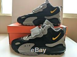 Nike Air Max Speed Turf Training Shoes AV7895-001 Black Yellow Men's Size 8.5