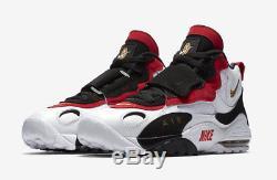 Nike Air Max Speed Turf WHITE RED DEION SANDERS US MENS SHOE SIZES 525225-101