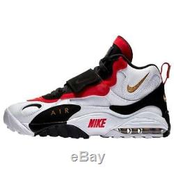 Nike Air Max Speed Turf White/Black/Red 49ers Mens Diamond 2018 Retro All NEW