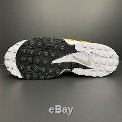 Nike Air Max Speed Turf Yellow Gold White Black BV1165-700 Men's Shoe Size 12