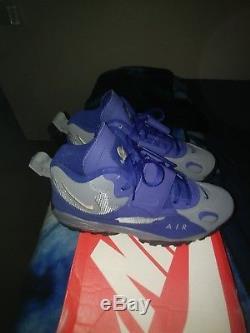 Nike Air Max Speed Turfs men sz 11 Brand New Cool Grey/ Met Gold/ Dp Royal blue